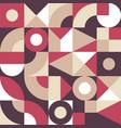 geometric mosaic decorative background design vector image