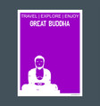 great buddha kamakura japan monument landmark vector image