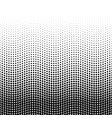 halftone background of dots in wavy arrangement vector image vector image
