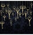 Hanging keys background vector image vector image