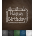 Happy Birthday icon vector image