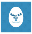 happy easter day card with creative design vector image
