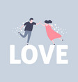 happy valentine day with lovely couple vector image vector image
