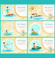 hot summer collection poster vector image vector image