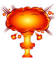 in the style of a comic explosion the atomic bomb vector image vector image