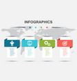 infographic design template with modern banners vector image vector image