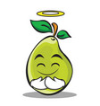 innocent face pear character cartoon vector image vector image