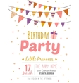 Inspirational happy birthday poster for girl vector image