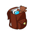 kid backpack vector image vector image