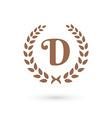 Letter D laurel wreath logo icon vector image vector image