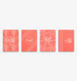 living coral trendy backgrounds with impossible vector image vector image