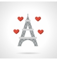 Love France flat color icon vector image vector image