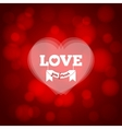 love heart design background vector image