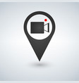map pointer with cinema icon vector image vector image