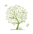 Massage and spa concept art tree for your design vector image vector image