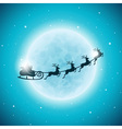 Merry Christmas Holiday with santa and deers vector image vector image