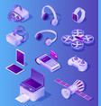 modern electronic devices realistic set vector image