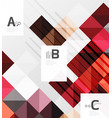 modern geometrical square banner minimalistic vector image vector image