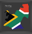 mpumalanga south africa map with national flag vector image vector image