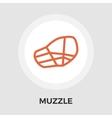 Muzzle flat icon vector image