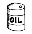 oil can freehand vector image