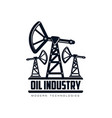 oil derrick pump flat icon pictogram vector image