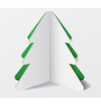 Paper Cardboard Christmas Tree Banner vector image