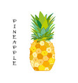 pineapple colorful sketch for your design vector image vector image