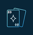 playing cards colored outline icon - poker vector image