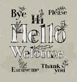 polite words vector image vector image