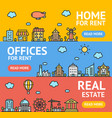 real estate flyer banner posters card set vector image vector image