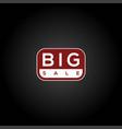 red big sale logo discount sale promo sticker lab vector image vector image
