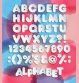 retro looking 3d alphabet vintage red vector image