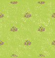 seamless pattern aquatic plant background vector image
