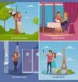selfie concept icons set vector image vector image