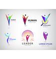 set human man logos icons e vector image vector image