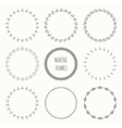 Set of hand drawn nautical hipster pattern Wreath vector image