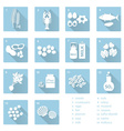 set of typical food alergens for restaurants and vector image vector image