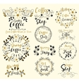 Strong CoffeeAlways Fresh ShopTasty Insignias vector image vector image