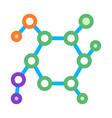 structure molecule medical biomaterial icon vector image