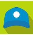Sun cap icon flat style vector image vector image