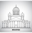 symbol helsinki finland - cathedral vector image vector image