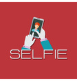 Taking Selfie Photo on Smart Phone or Tablet vector image