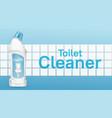 toilet cleaner banner with liquid detergent bottle vector image vector image