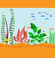 transparent aquarium sea aquatic background vector image