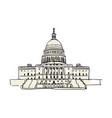 usa capitol building in washington hand drawn icon vector image