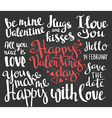 Valentines Day Set of Valentines stylish trendy vector image vector image