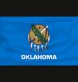 waving flag oklahoma 10 eps vector image vector image
