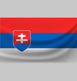 waving national flag of slovakia vector image