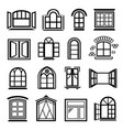 window design icons set simple style vector image vector image